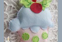 NATALE FELTRO ♥ FELT CHRISTMAS / DECORI NATALE IN FELTRO Felt Christmas decorations