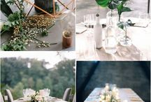 wedding decor and table