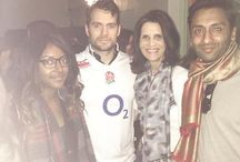 Henry Cavill fan of England Rugby /  Henry Cavill supporting England Rugby