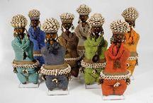 African Creative - Namji Fertility Dolls / Cameroon decorative fertility dolls.