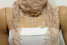 LACE SCARVES with FRINGE