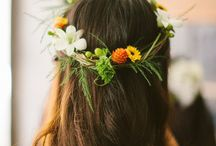 Flowers For Your Hair / Blooms for the hair from crazy to simple