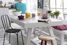 Interiores - Cozinha, sala de jantar / by Jusciele Costa