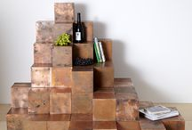 Copper cubes / Modular copper cubes. Use them to create your own furniture!