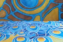 batika a malba na textil