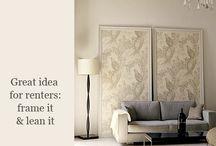 Interior: Framed Fabric /Wallpaper