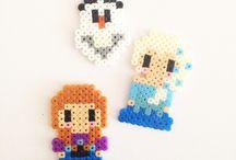 Hama beads frozen