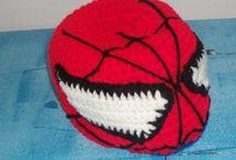 spiderman Crochet hats