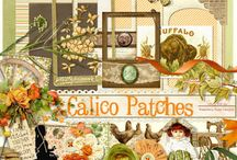Calico Patches Collection / A heritage themed family scrapbook collection.