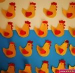 Hen(chicken) crafts / this page has a lot of hen,chicken,handprint crafts for kids,parents,teachers.