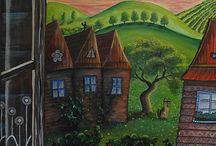Huba / paintings of amateur painter Katka Hubinska