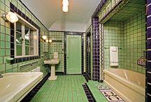 Art Deco: bathroom & kitchen