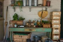 Potting Benches / My favorite inspirations for the potting bench I want to have some day. / by Rachel @ Creative Homemaking