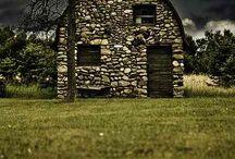 abandoned barns and churches