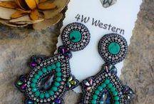 Jewelry ~ Earrings / Women's fashion earrings, leather earrings, western earrings, stud earrings, trendy earrings, western, cowgirl, fashion, boutiuqe earrings, fringe earrings, leather earrings, crystal earrings, cow skull earrings, western fashion women's earrings,