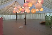 Paper Lanterns / Different examples of how paper lanterns can be used for an event.