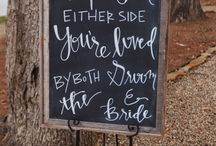 wedding signs / by Natalie Gaudy
