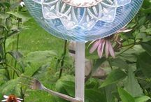 Garden art / garden house DIY