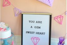 """""""You're a Gem!"""" Galentine's Day Party / """"You're a Glem!"""" Galentine's Day party to throw for your best friends!! Ideas, Decorations, and more Inspiration!"""