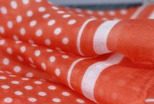 Foulard et écharpe orange