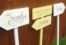 Wedding Directional Signs / by Our Hobby To Your Home & Wedding