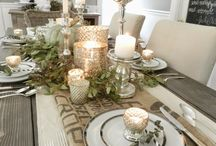 Tablescape Inspiration / Tablescape inspiration for the home