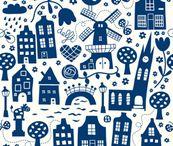 Delftsblauwe patronen