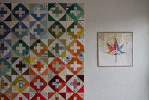 Word print fabric quilts