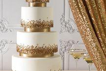 arany ezüst torták