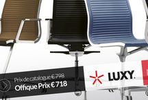 Mobilier de Bureau et Chaises de Bureau / Bureau et mobilier de direction italiens: encadrer avec style – aux contours frais et sinueux, légers et polyvalents.