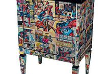 decoupaged furniture