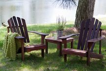 Outdoor Furniture- Adirondack Chairs/Tables / Great selection of comfortable Adirondacks.