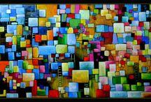 quadros decorativos / Quadros pintados a mão para decoração