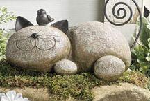 Stones art for garden