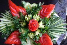 veg and fruit display