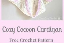Baby crochet hooded cocoon jacket