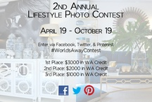 2nd Annual Lifestyle Photo Contest / Submit Lifestyle Photos incorporating #WorldsAway items for a chance to win! Three winners! Enter here: http://bit.ly/XKLSdR / by Worlds Away