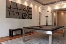 Parisian flat and design billiard