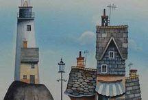 domy, města, vesnice