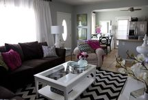 black and white chevron rug rooms