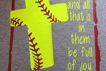 Softball shirts with bible verses