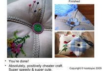 Pin cushions / by Carol Bieganousky