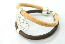 Women Bracelets / Women cork bracelets made from super-comfortable and light-weight cork material