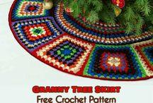 pie de árbol crochet