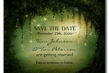 Bruiloft uitnodiging + save the date