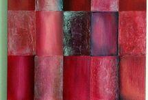 Carré d'amour / Carrés revisiter avec de la pâte de structure pour rehausser les reliefs  Colorée et lumineuse  https://www.facebook.com/toiles.jeaninelucci