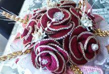 bouquet all'uncinetto nozze d'oro