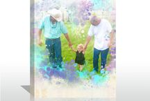 Photo Into Painting Unique Artistry / Give dad a wonderful gift on this year's father's day. How about a creative photo canvas of his favorite photo? Hang it on his wall to give him a big surprise.