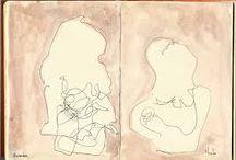 Desenho de contorno Cego