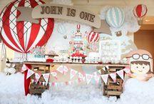 hot air baloon birthday